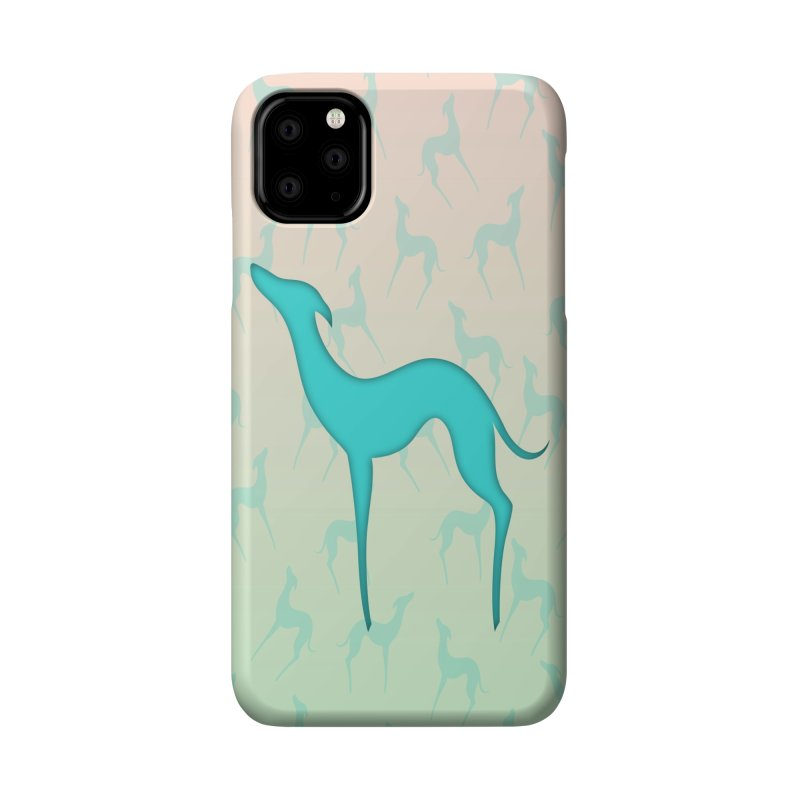 Greyhound dog silhouette Accessories Phone Case by edrawings38's Artist Shop