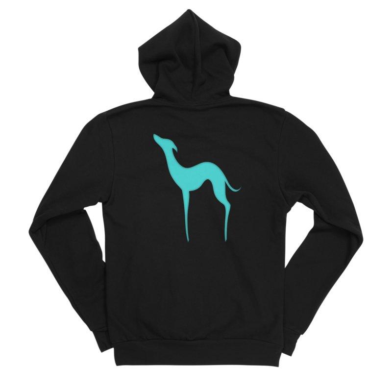 Greyhound dog silhouette Men's Sponge Fleece Zip-Up Hoody by edrawings38's Artist Shop