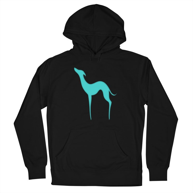Greyhound dog silhouette Men's French Terry Pullover Hoody by edrawings38's Artist Shop