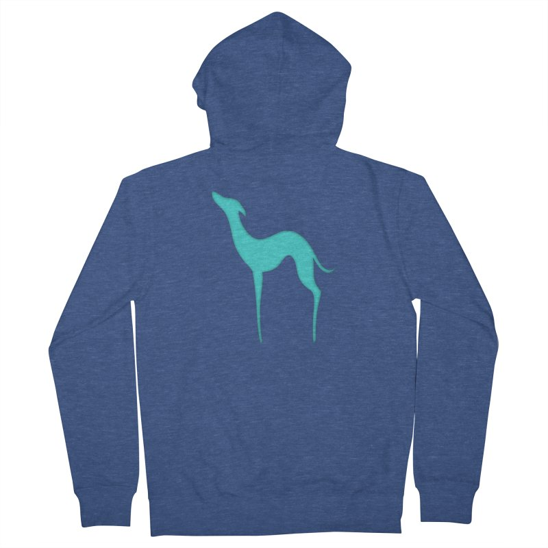Greyhound dog silhouette Women's French Terry Zip-Up Hoody by edrawings38's Artist Shop