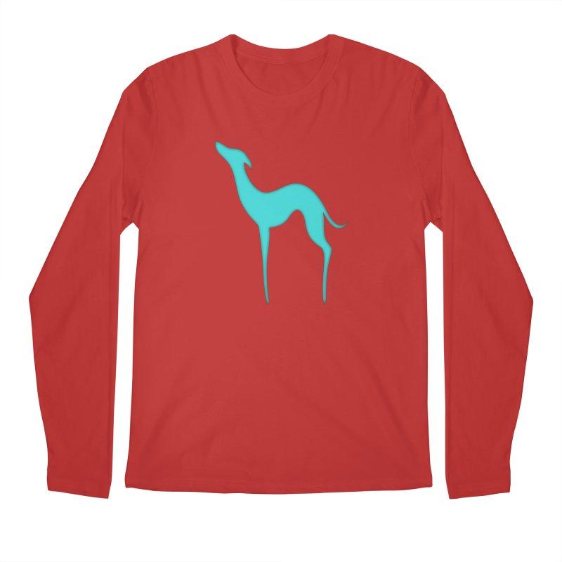 Greyhound dog silhouette Men's Regular Longsleeve T-Shirt by edrawings38's Artist Shop