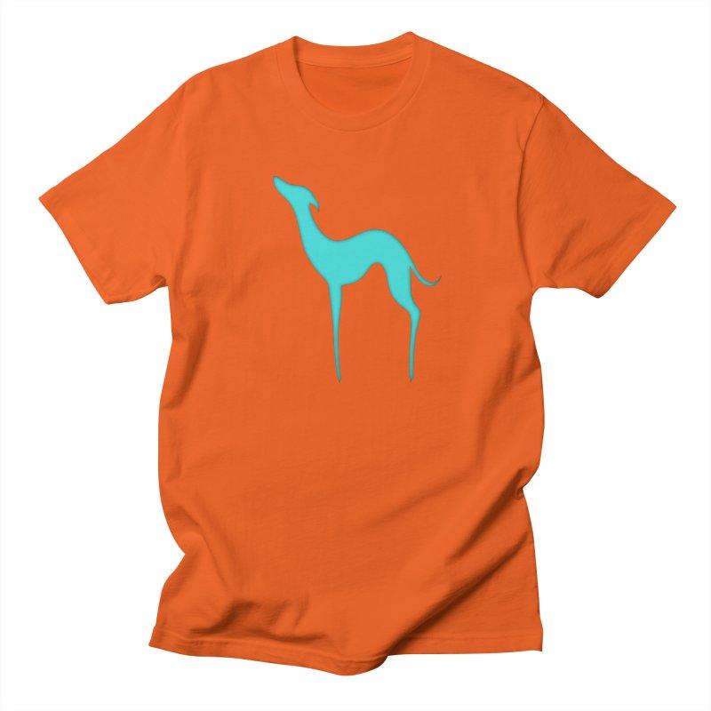 Greyhound dog silhouette Men's Regular T-Shirt by edrawings38's Artist Shop