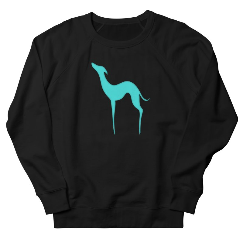Greyhound dog silhouette Women's French Terry Sweatshirt by edrawings38's Artist Shop