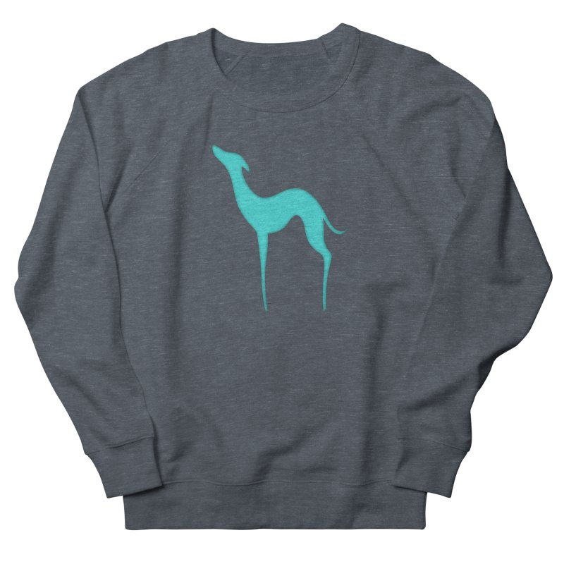 Greyhound dog silhouette Men's French Terry Sweatshirt by edrawings38's Artist Shop