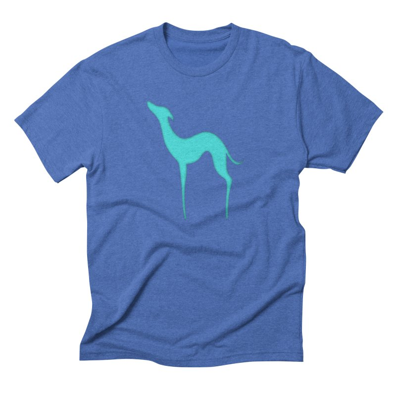 Greyhound dog silhouette Men's Triblend T-Shirt by edrawings38's Artist Shop
