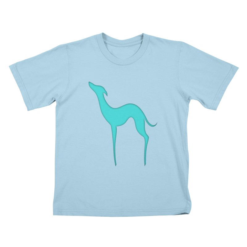 Greyhound dog silhouette Kids T-Shirt by edrawings38's Artist Shop
