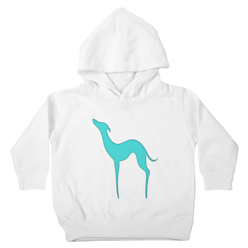 Greyhound dog silhouette Kids Toddler Pullover Hoody by edrawings38's Artist Shop