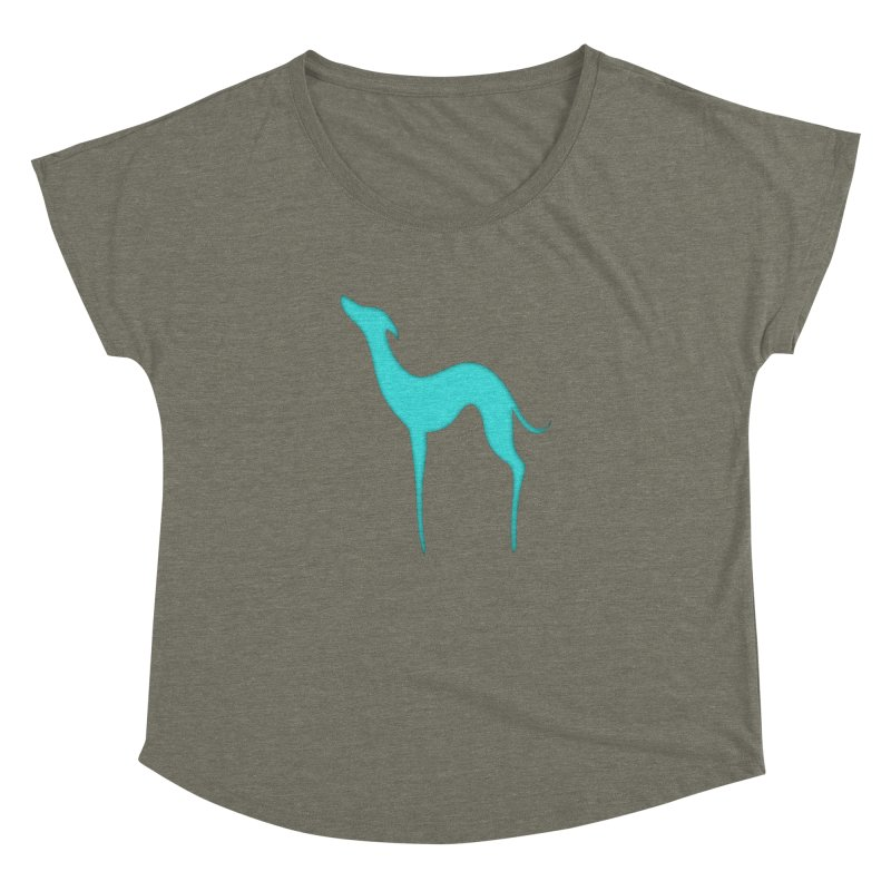 Greyhound dog silhouette Women's Dolman Scoop Neck by edrawings38's Artist Shop