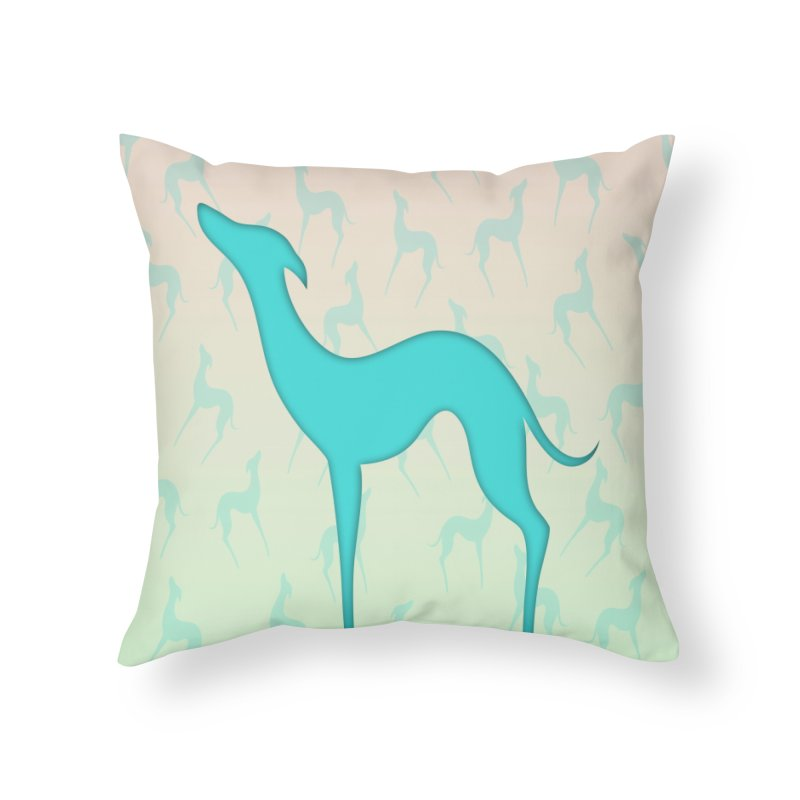 Greyhound dog silhouette Home Throw Pillow by edrawings38's Artist Shop