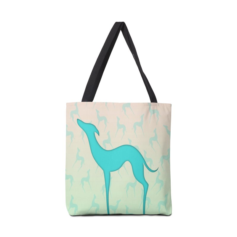 Greyhound dog silhouette Accessories Tote Bag Bag by edrawings38's Artist Shop