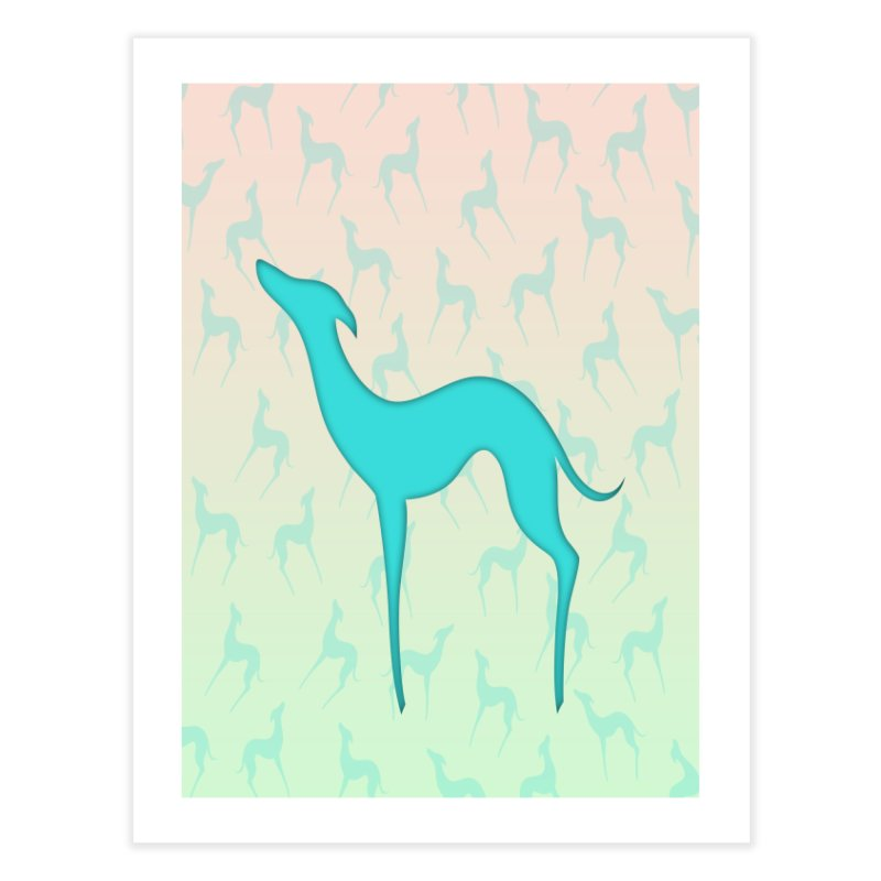 Greyhound dog silhouette Home Fine Art Print by edrawings38's Artist Shop