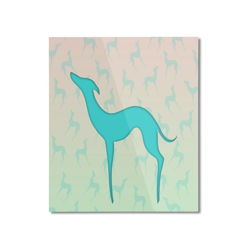 Greyhound dog silhouette Home Mounted Aluminum Print by edrawings38's Artist Shop
