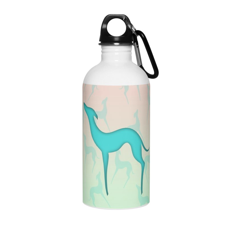 Greyhound dog silhouette Accessories Water Bottle by edrawings38's Artist Shop