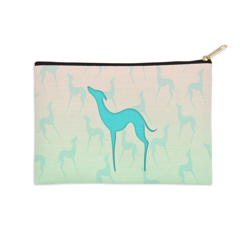 Greyhound dog silhouette Accessories Zip Pouch by edrawings38's Artist Shop