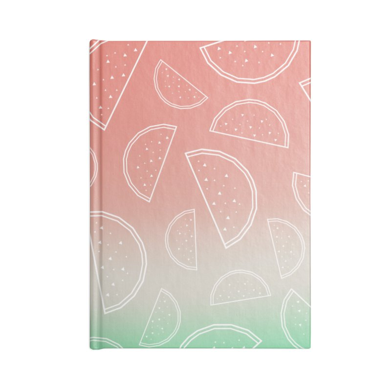 Watermelon Accessories Lined Journal Notebook by edrawings38's Artist Shop