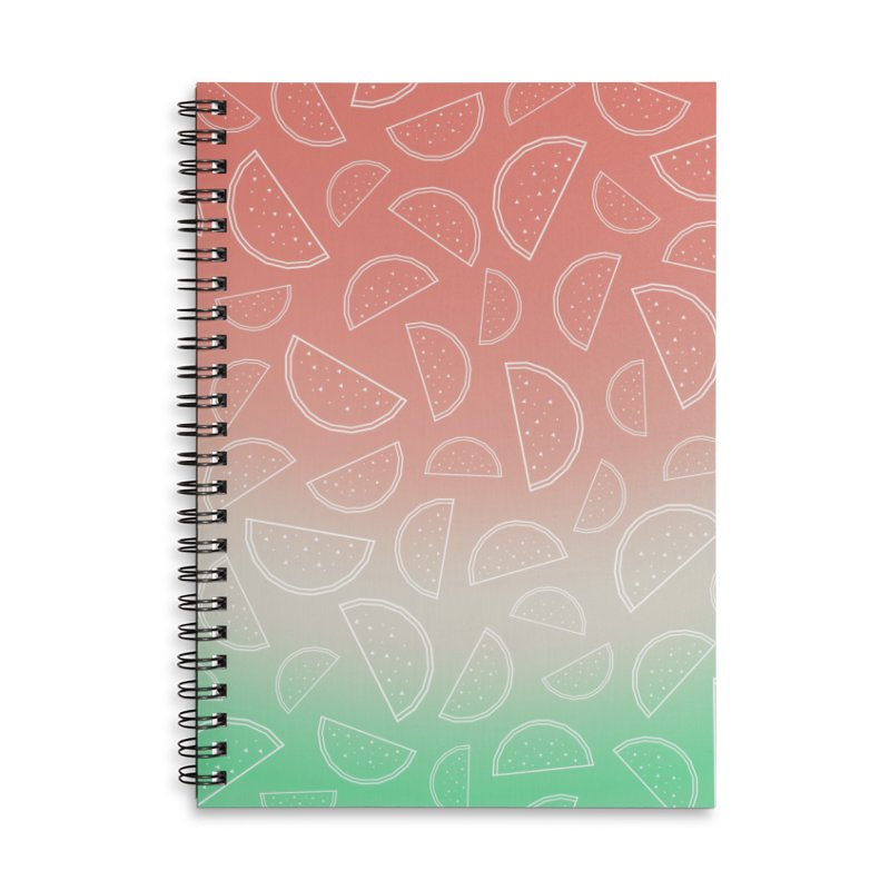 Watermelon Accessories Lined Spiral Notebook by edrawings38's Artist Shop