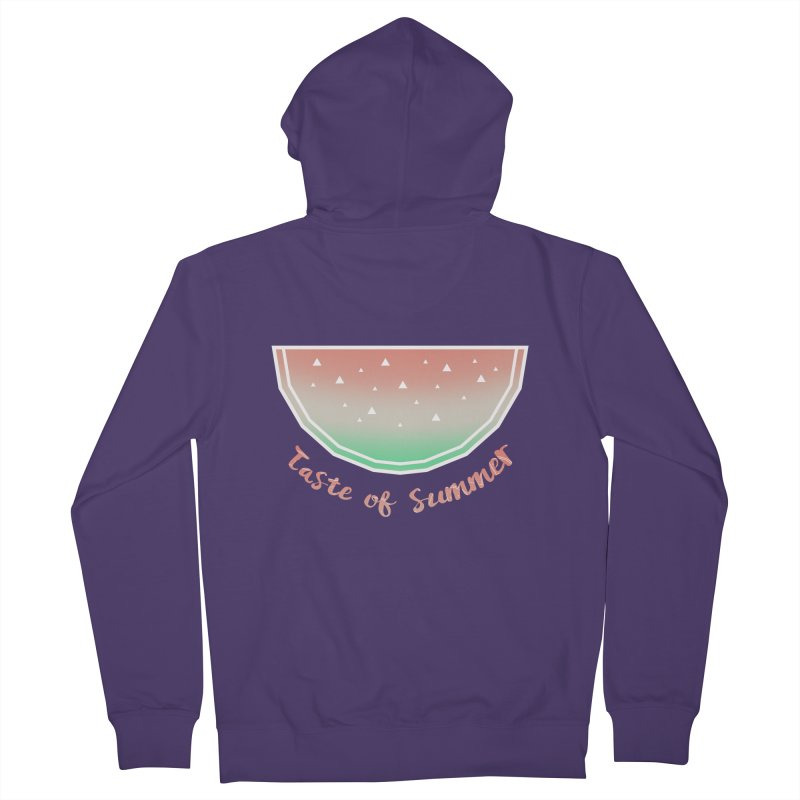 Watermelon Women's French Terry Zip-Up Hoody by edrawings38's Artist Shop