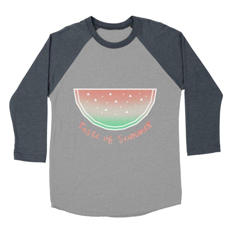 Watermelon Women's Baseball Triblend Longsleeve T-Shirt by edrawings38's Artist Shop