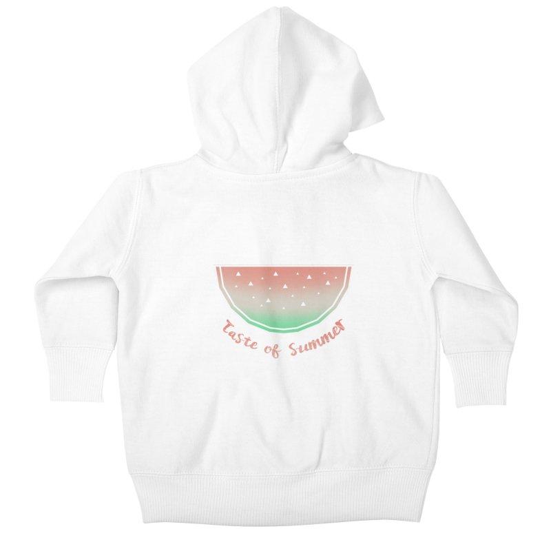 Watermelon Kids Baby Zip-Up Hoody by edrawings38's Artist Shop
