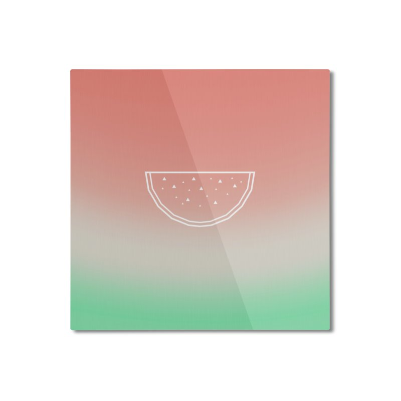 Watermelon Home Mounted Aluminum Print by edrawings38's Artist Shop
