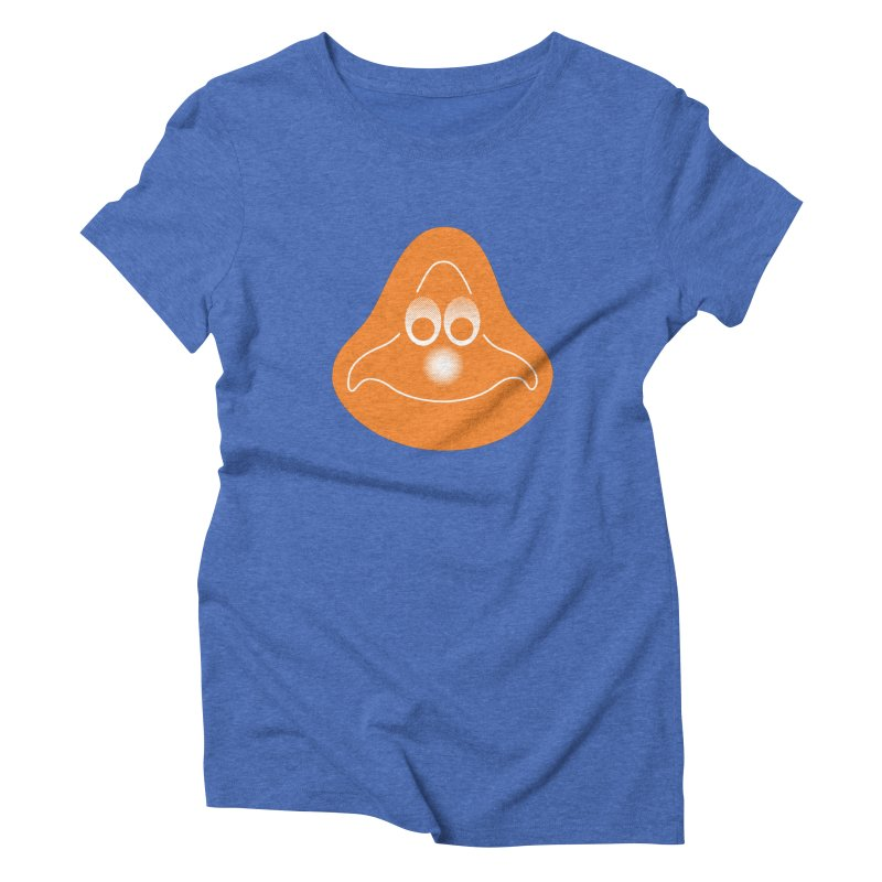 La mascotte (Solid) in Women's Triblend T-Shirt Blue Triblend by Ed's Threads