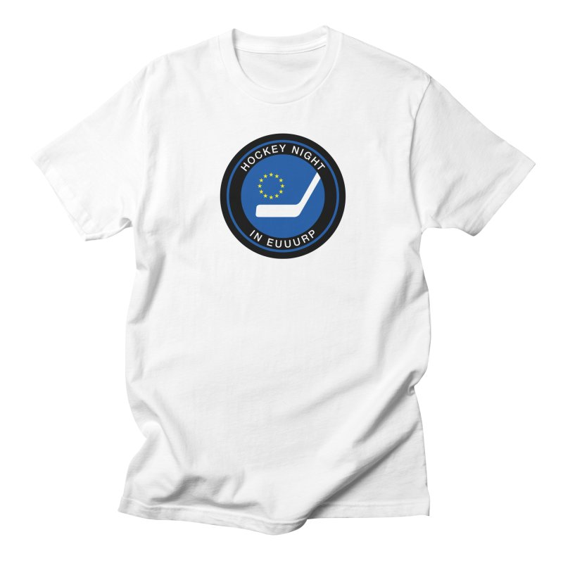 Hockey Night in Euuurp Men's Regular T-Shirt by Ed's Threads