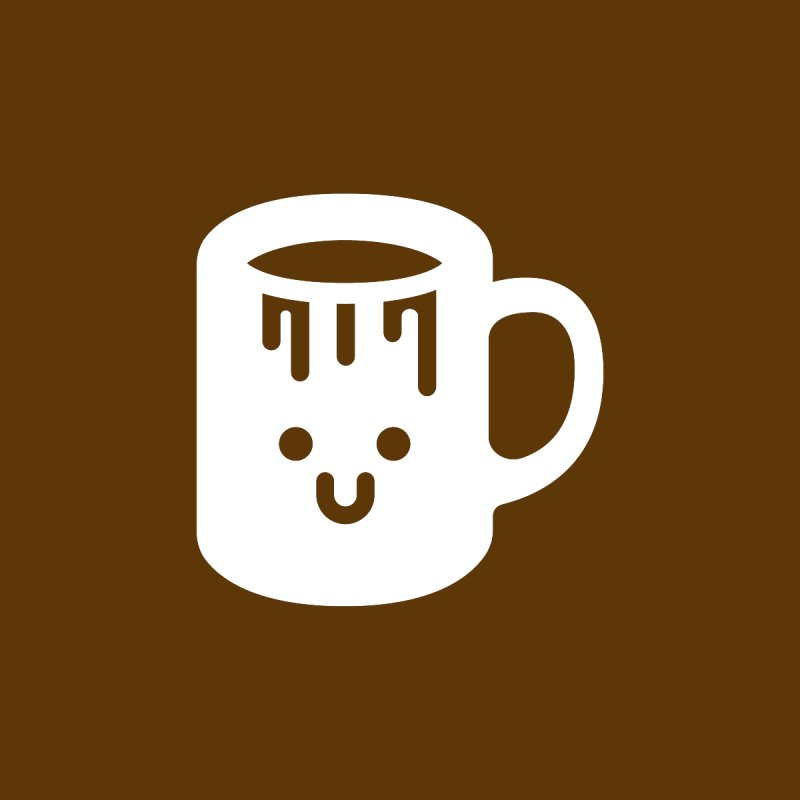 Clumsy Coffee Cup (Dark) by Ed's Threads