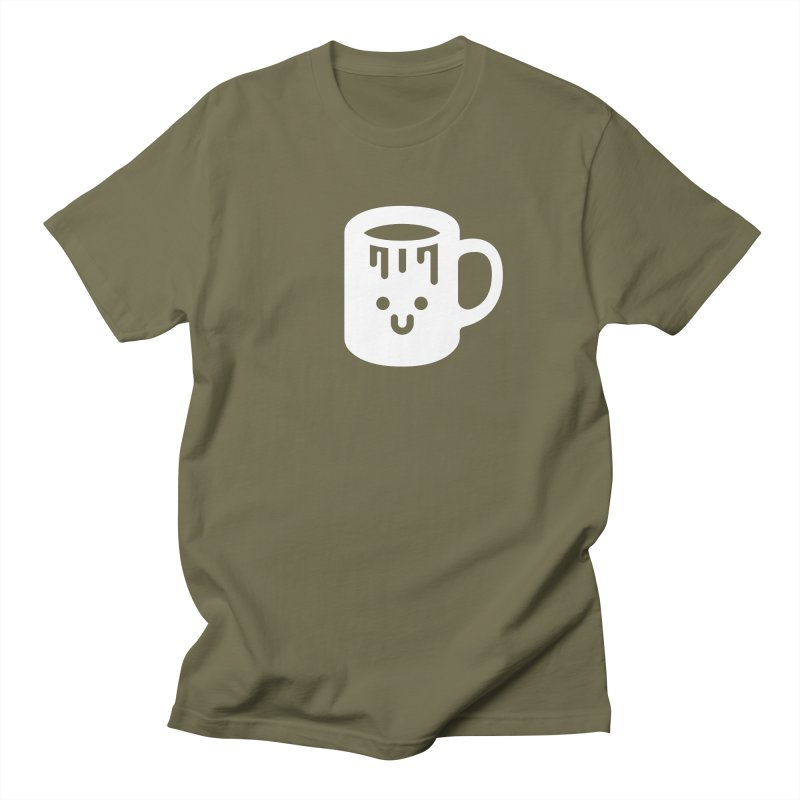 Clumsy Coffee Cup (Dark) Men's Regular T-Shirt by Ed's Threads