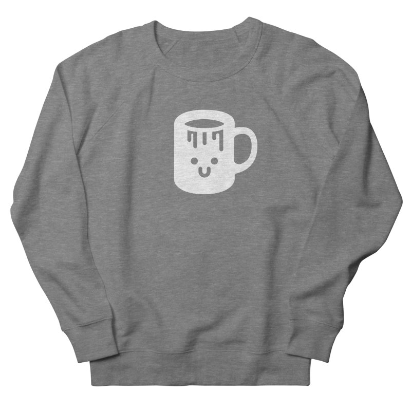 Clumsy Coffee Cup (Dark) Women's French Terry Sweatshirt by Ed's Threads