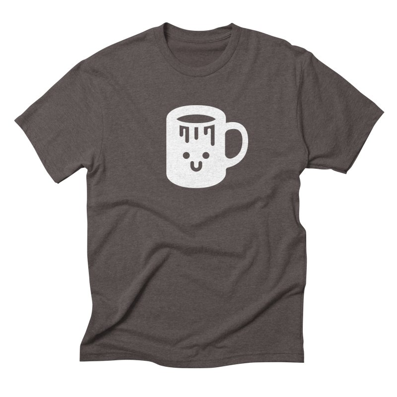 Clumsy Coffee Cup (Dark) in Men's Triblend T-Shirt Tri-Coffee by Ed's Threads