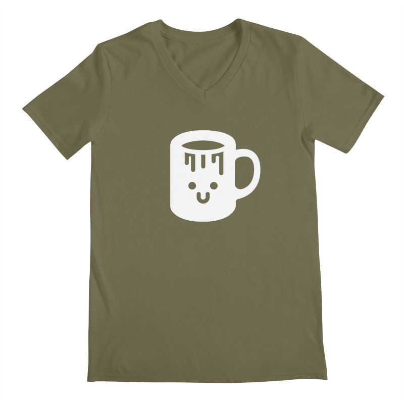 Clumsy Coffee Cup (Dark) Men's V-Neck by Ed's Threads