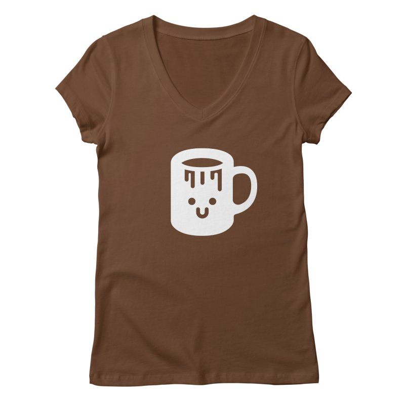 Clumsy Coffee Cup (Dark) Women's V-Neck by Ed's Threads