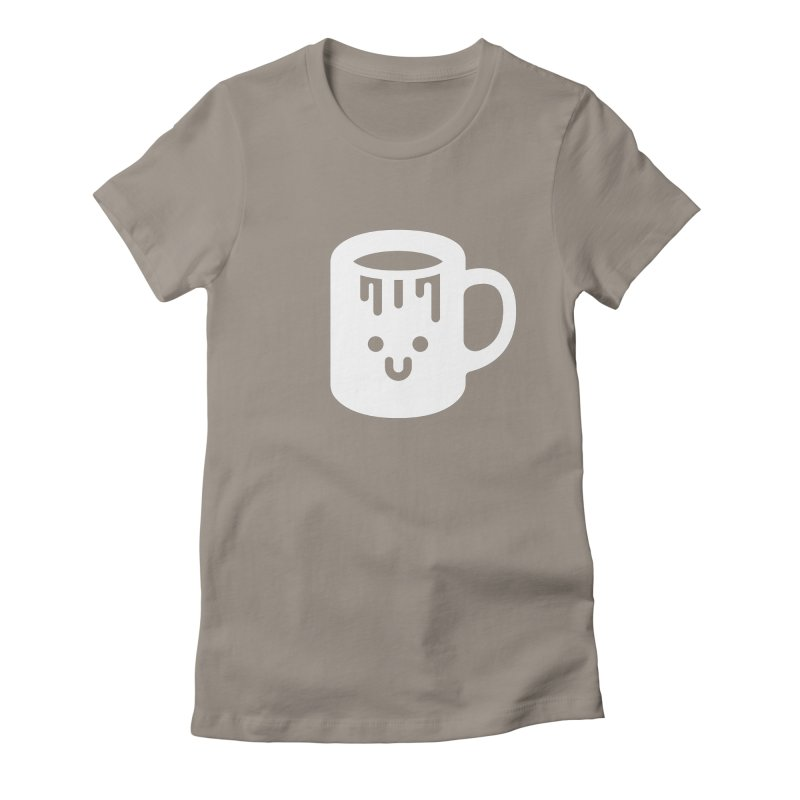 Clumsy Coffee Cup (Dark) Women's Fitted T-Shirt by Ed's Threads