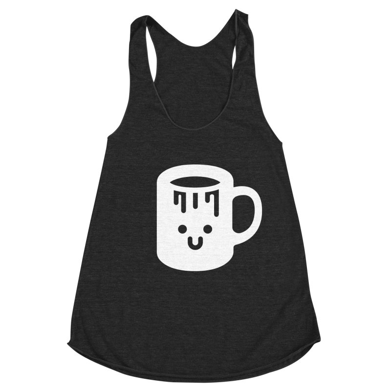 Clumsy Coffee Cup (Dark) Women's Racerback Triblend Tank by Ed's Threads