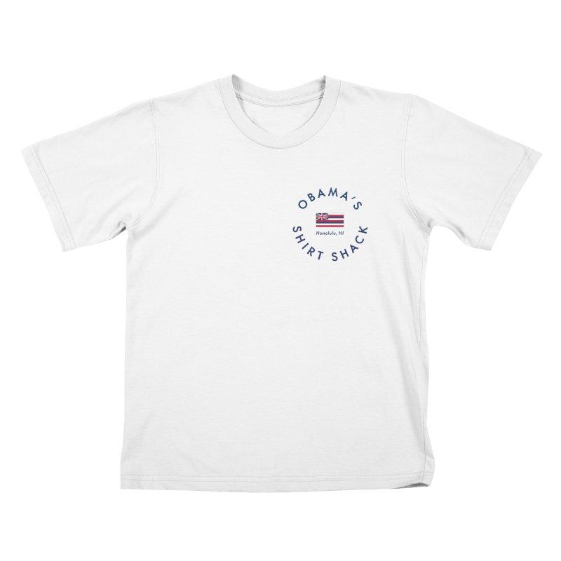 Obama's Shirt Shack (Hawaiian flag seal) Kids T-Shirt by Ed's Threads