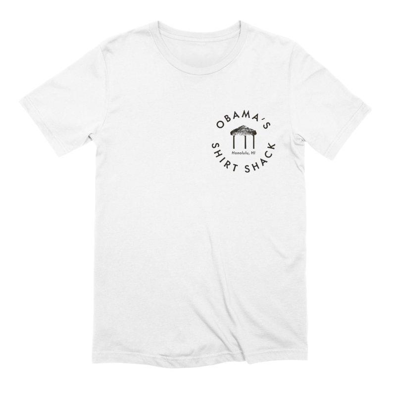 Obama's Shirt Shack (Tiki hut seal) Men's T-Shirt by Ed's Threads