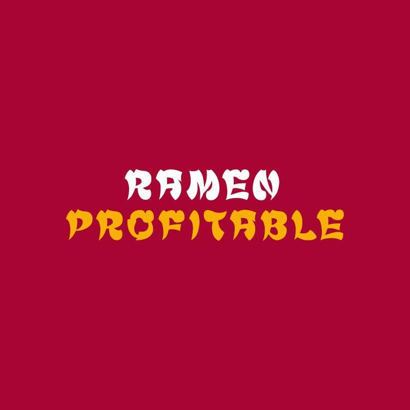 Ramen Profitable (Dark) Men's T-Shirt by Ed's Threads