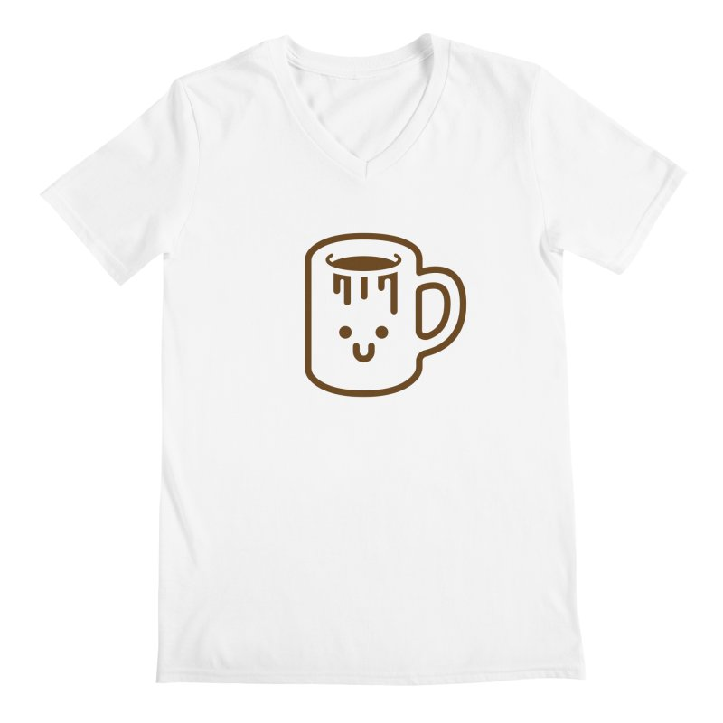 Clumsy Coffee Cup Men's V-Neck by Ed's Threads
