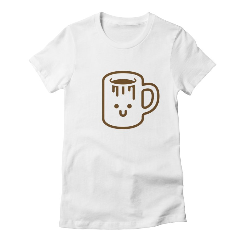 Clumsy Coffee Cup Women's Fitted T-Shirt by Ed's Threads