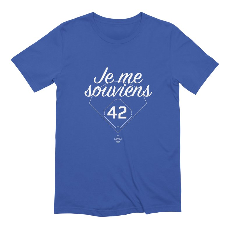 Je me souviens (Jackie Robinson Day edition) Men's T-Shirt by Ed's Threads