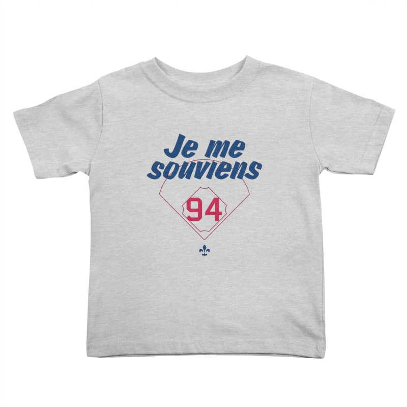 Je me souviens (Light) Kids Toddler T-Shirt by Ed's Threads