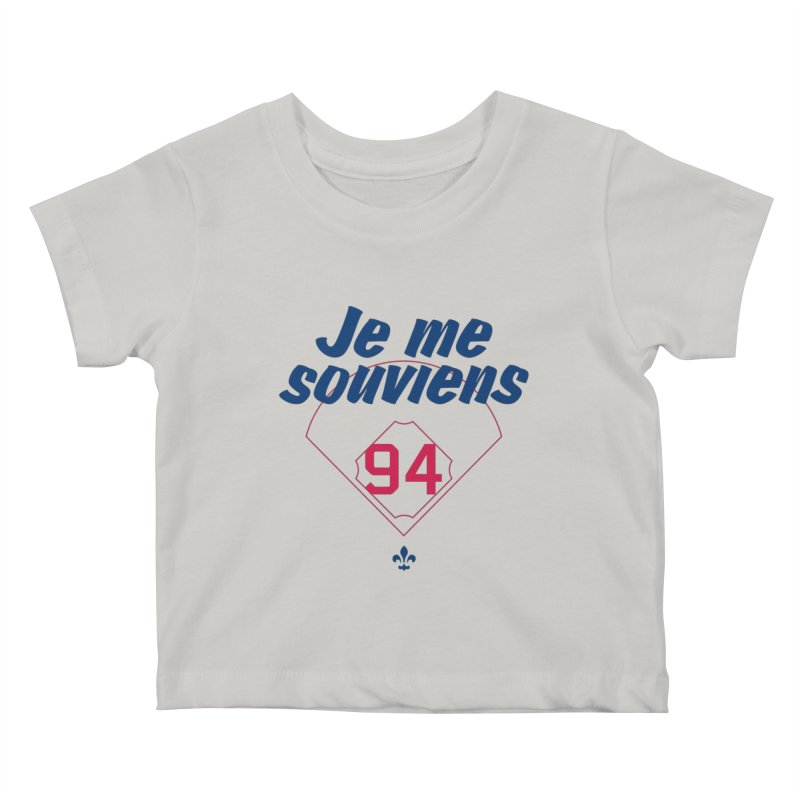 Je me souviens (Light) Kids Baby T-Shirt by Ed's Threads