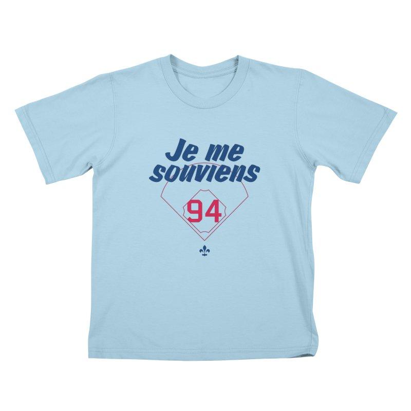 Je me souviens (Light) Kids T-Shirt by Ed's Threads