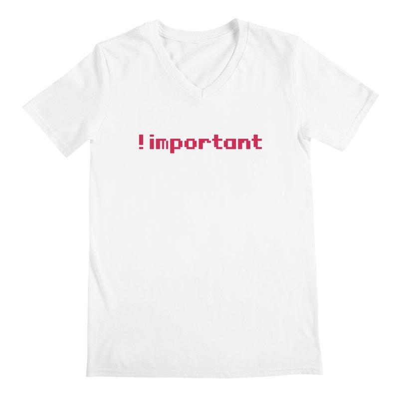 Self !important Men's V-Neck by Ed's Threads