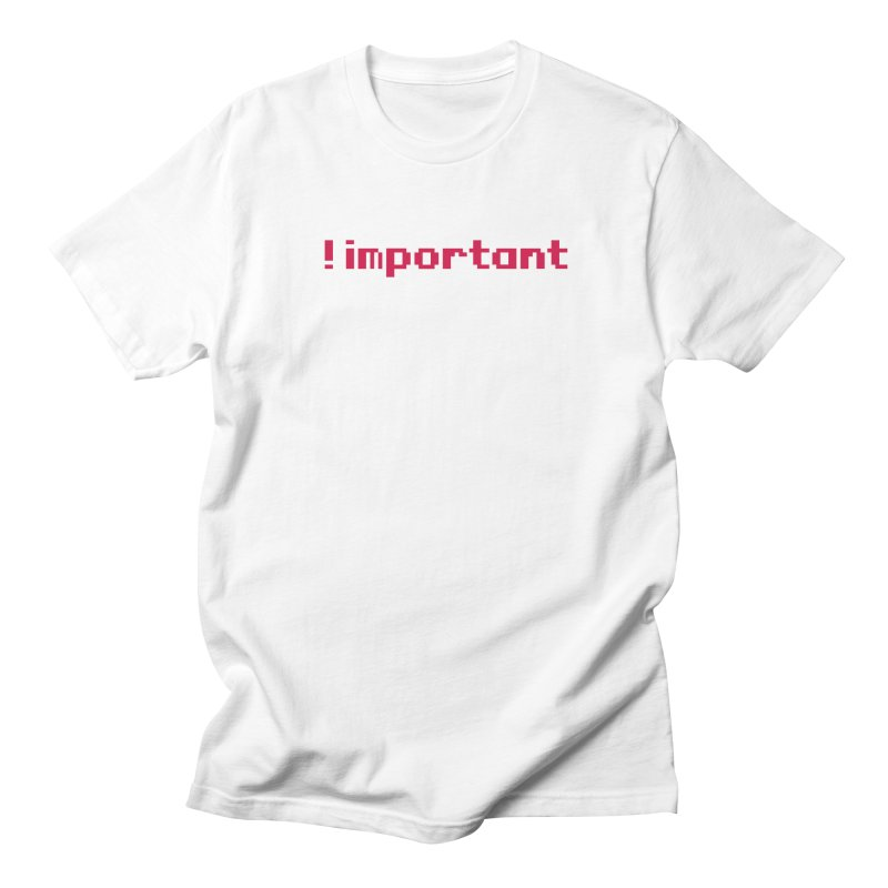 Self !important Men's T-Shirt by Ed's Threads