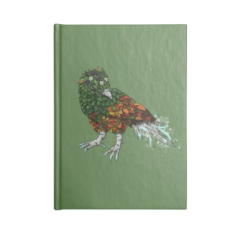 4 Seasons Bird Accessories Notebook by edubost's Artist Shop