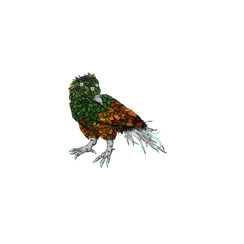 4 Seasons Bird Home Stretched Canvas by edubost's Artist Shop