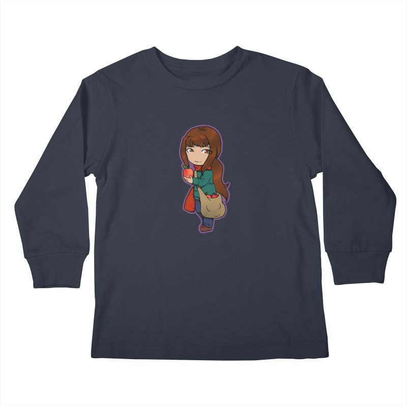 Apple Kids Longsleeve T-Shirt by edubost's Artist Shop
