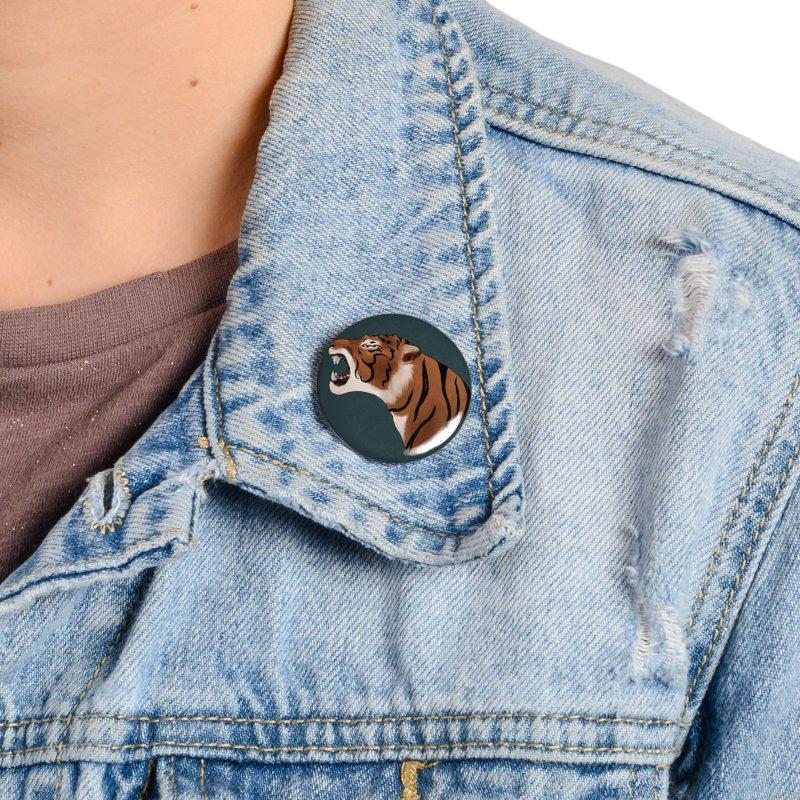 Tigers Roar Accessories Button by edubost's Artist Shop