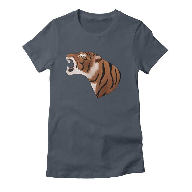 Tigers Roar Women's T-Shirt by edubost's Artist Shop